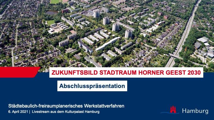 Livestream zur Abschlusspräsentation Zukunftsbild Stadtraum Horner Geest 2030