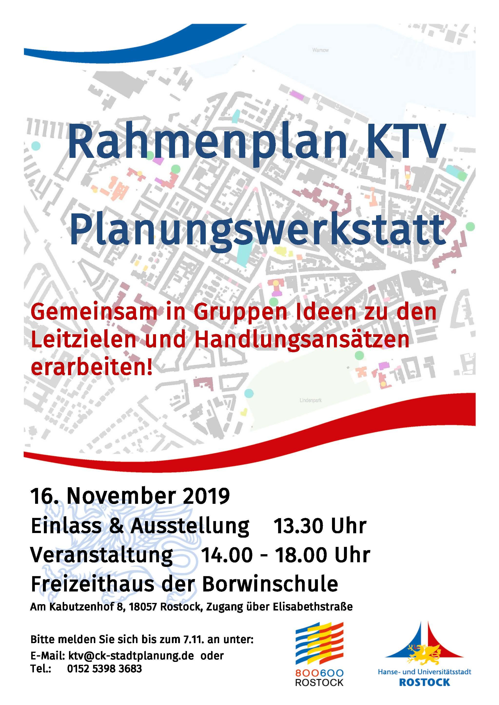 Planungswerkstatt zum Rahmenplan KTV Rostock
