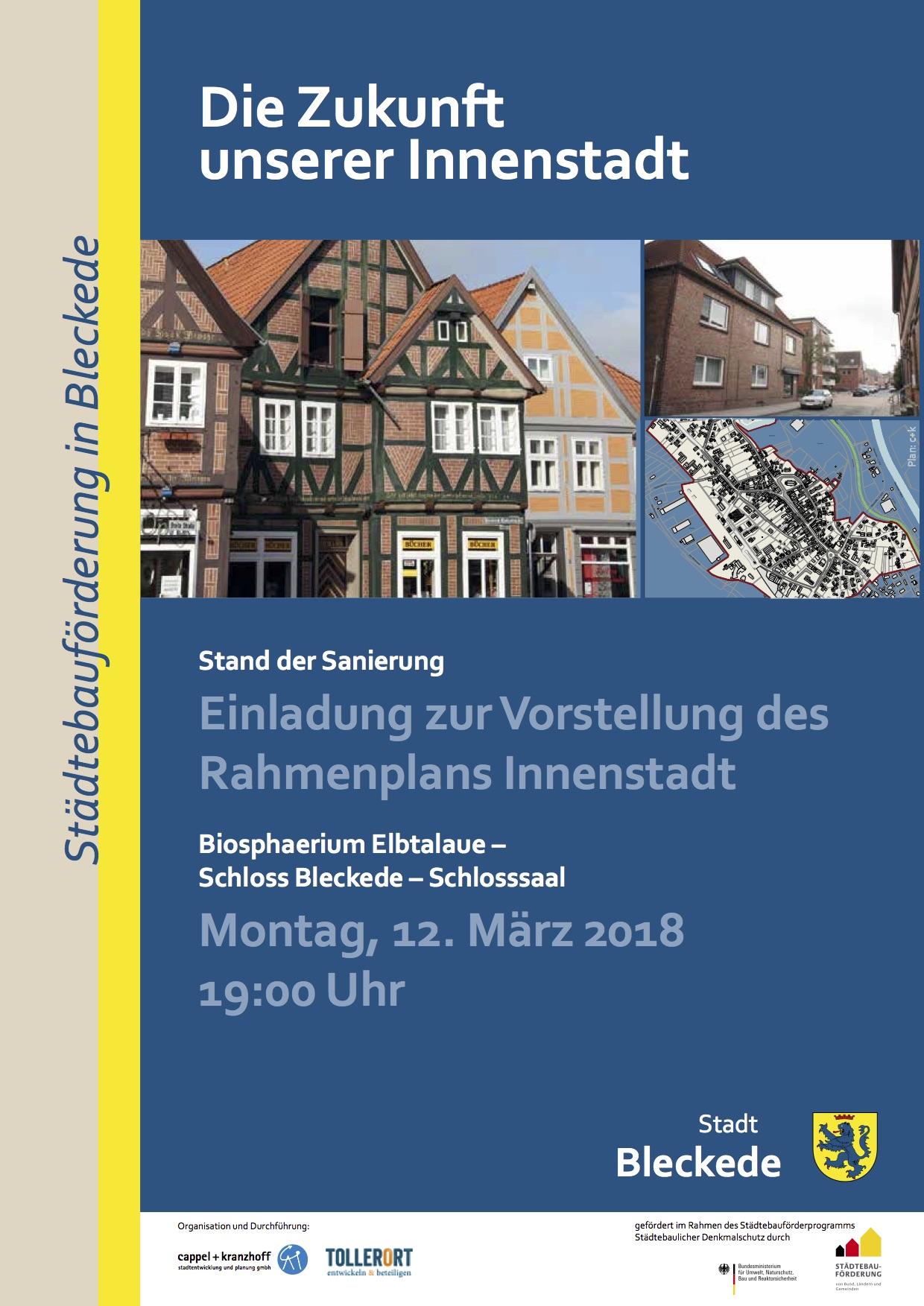 Rahmenplan Innenstadt Schlossensemble in Bleckede