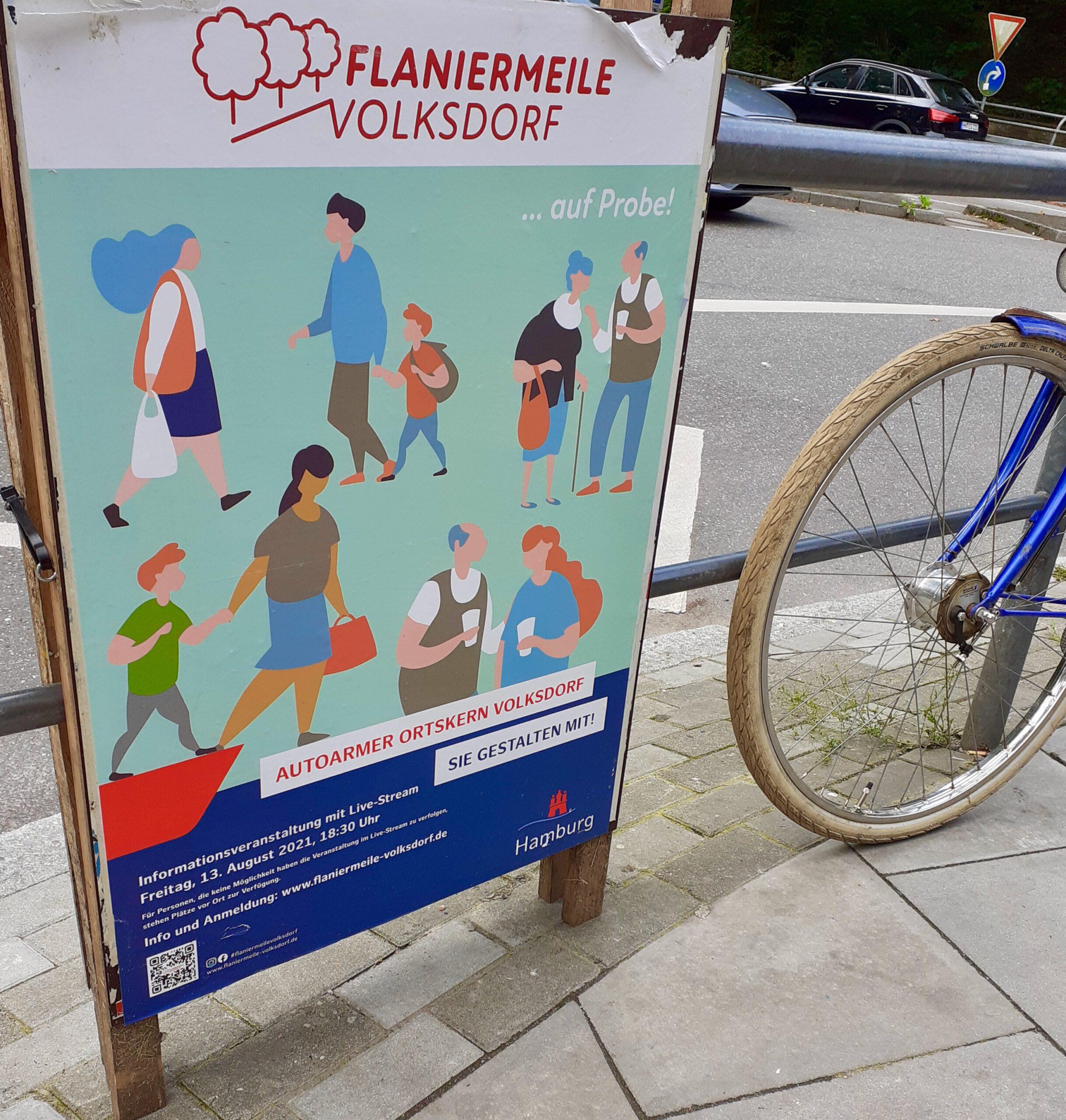 Flaniermeile Volksdorf Infoveranstaltung 13.8.